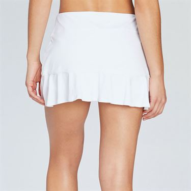 Eleven Pique Flounce Skirt 13 inch - White