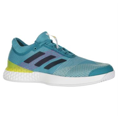 adidas adiZero Ubersonic 3 Mens Tennis Shoe - Aqua/Ink/Pink