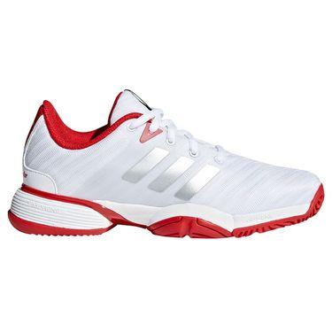 pretty nice 41065 2284a ... adidas Barricade 2018 Junior Tennis Shoe - WhiteCore Black