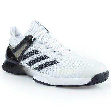 adidas adizero Ubersonic 2 Mens Tennis Shoe - White/Core Black/Grey Two