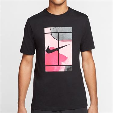 Nike Court Tee Shirt Mens Black CQ2422 010
