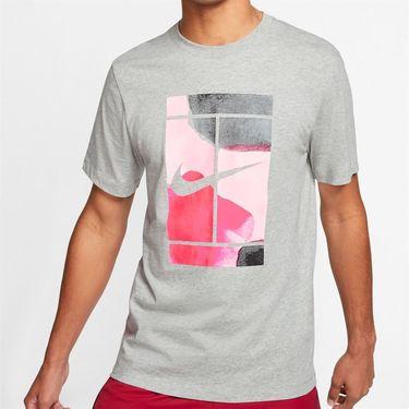Nike Court Tee Shirt Mens Dark Grey Heather CQ2422 063
