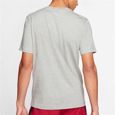 Nike Court Tee Shirt Mens Dark Grey Heather CQ2422 063