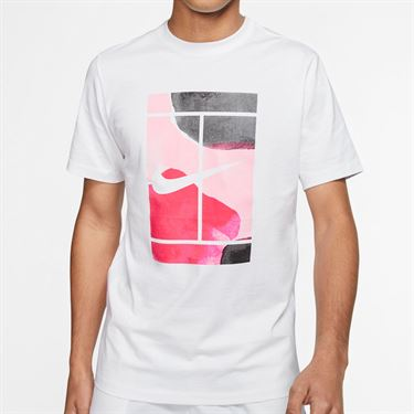 Nike Court Tee Shirt Mens White CQ2422 100