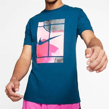 Nike Court Tee Shirt Mens Valerian Blue CQ2422 432