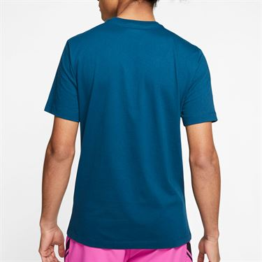 Nike Court Tee Shirt Mens Valerian Blue CQ2422 432