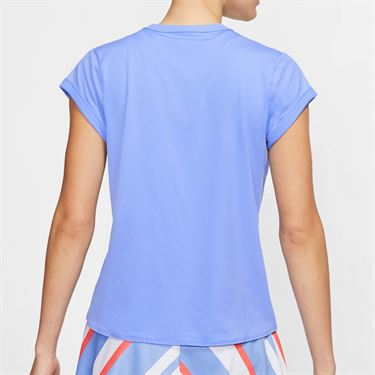 Nike Court Dri Fit Top Womens Royal Pulse/White CQ5364 478