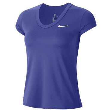 Nike Court Dri Fit Top Womens Rush Violet/White CQ5364 554