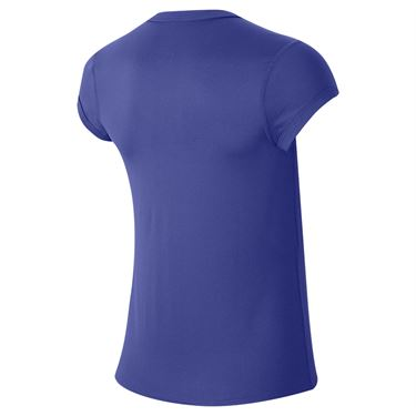 Nike Court Dri Fit Top Womens Rush Violet/White CQ5364 554