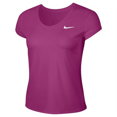 Nike Court Dri Fit Top Womens Cactus Flower/White CQ5364 564