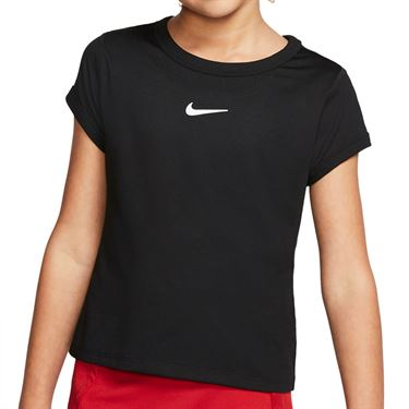 Nike Girls Court Dri Fit Top White/Black CQ5386 010