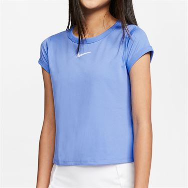 Nike Girls Court Dri Fit Top Royal Pulse/White CQ5386 478