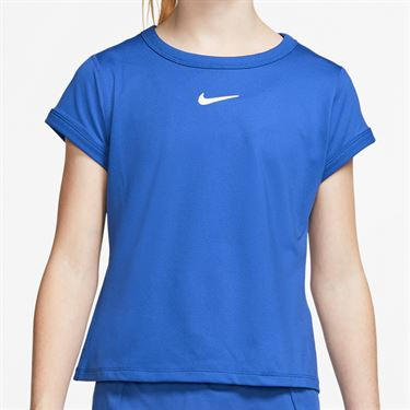Nike Girls Court Dry Top Game Royal/White CQ5386 480