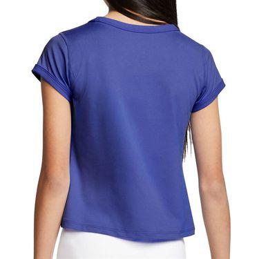 Nike Girls Court Dri Fit Top Rush Violet/White CQ5386 554