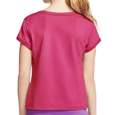 Nike Girls Court Dri Fit Top Vivid Pink/White CQ5386 616