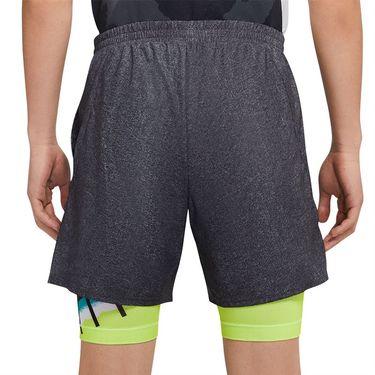 Nike Challenge Court Flex Ace Short - Black/Hot Lime/Neo Teal