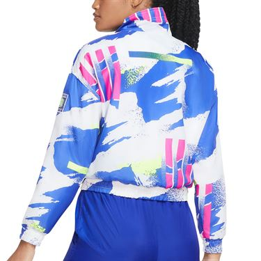 Nike Court Jacket Womens White/Sapphire/Hot Lime/Pink Foil CQ9176 100