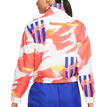Nike Court Jacket Womens White/Solar Red/Citrus/Ultramarine CQ9176 101