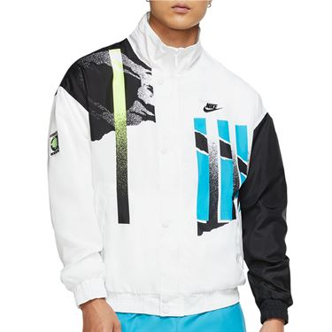 Nike Challenge Court NYC Jacket - White/Black/Neo Teal