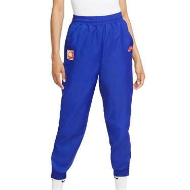 Nike Court Pant Womens Ultramarine/Hot Lime/White/Solar Red CQ9195 411