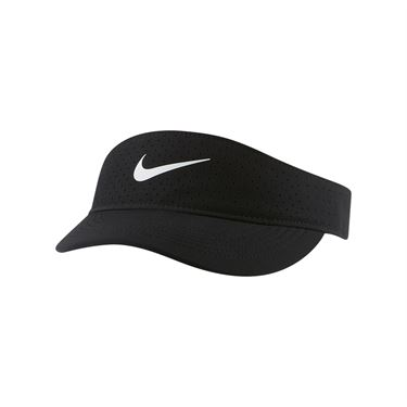 Nike Court Womens Advantage Visor - Black/White