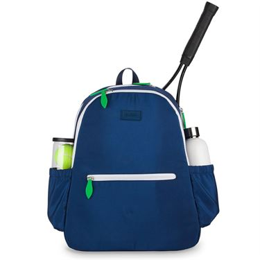 Ame and Lulu Court Side Tennis Backpack - Navy/Green