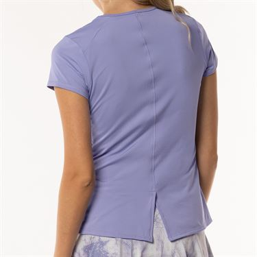 Lucky In Love Lilac It A Lot Chill Fit Short Sleeve Top Lilac