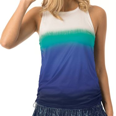 Lucky in Love Lite Speed Ombre Cinch Tank Womens Parisian Blue CT328 902434