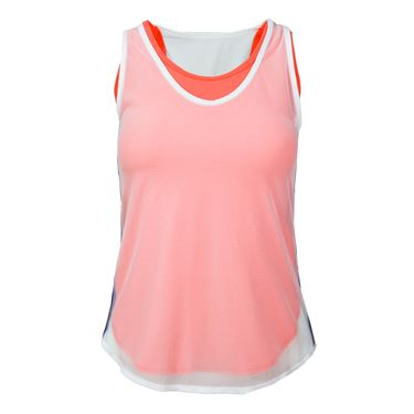Lucky in Love Vantage Mesh Layered Tank - Coral