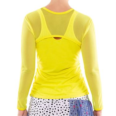 Lucky in Love Delano Mesh Long Sleeve Womens Yellow CT395 709