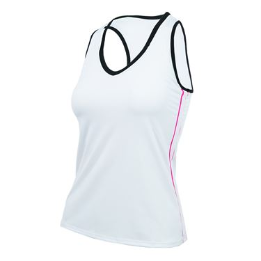Lucky in Love Off The Charts Active Fit V Neck Cutout Tank - White