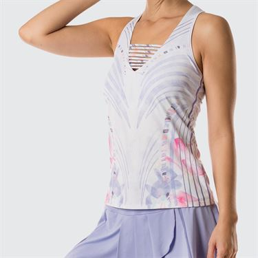 Lucky In Love Lilac It A Lot Active Fit V Neck Tank - Lilac