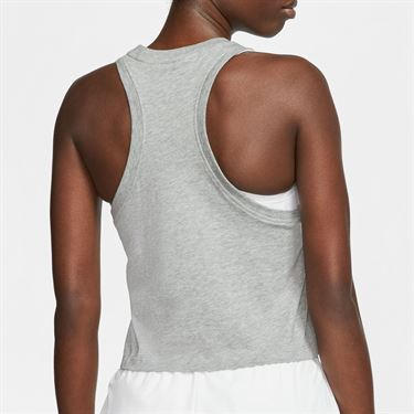 Nike Court Logo Tank Womens Dark Heather Grey CT43476 063