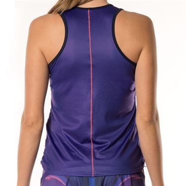 Lucky in Love Chill Fit Ultraviolet Y Knot Ruche Tank - Ultraviolet