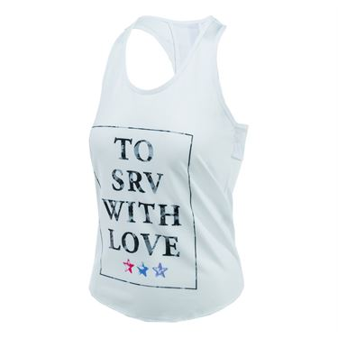 Lucky in Love Star Camo Tank - White