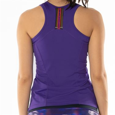 Lucky in Love Active Fit Ultraviolet Edgy Racerback Tank - Ultraviolet