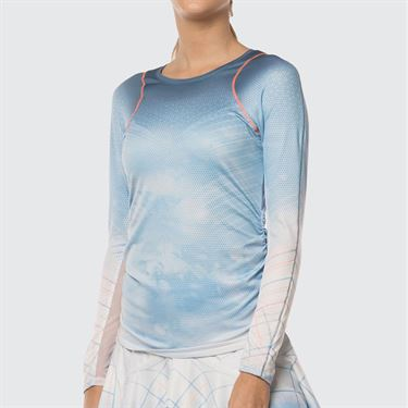 Lucky in Love Celestial Geo Active Fit Long Sleeve - Bluebell