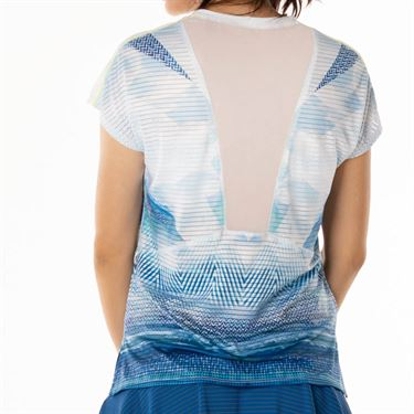 Lucky in Love Axis Point Ethos Dolman Top - Electric Blue