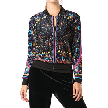 Lucky in Love Velvet Vision Majesty Velvet Bomber Jacket - Black