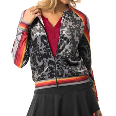 Lucky in Love Camo Groove Bomber Jacket Womens Charcoal CT494 849040