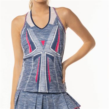 Lucky in Love Shape It Up Active Fit Tank - Blueberry