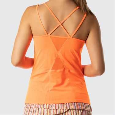 Lucky In Love Neon Vibes Active Fit Strappy Tank - Neon Orange