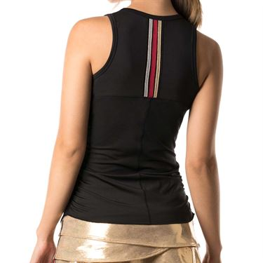 Lucky in Love Go For the Metal Olympian V Neck Tank - Black