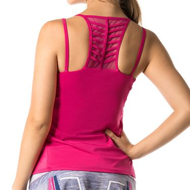 Lucky in Love Shape It Up Active Fit Optimist Strappy Tank - Raspberry