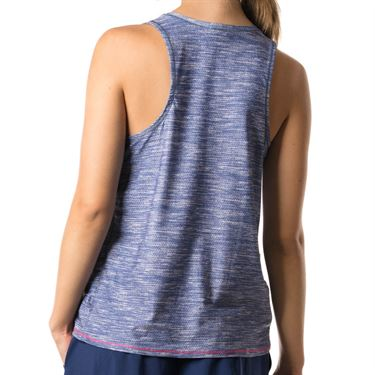Lucky in Love Shape It Up Chill Fit Mixed Media Tank - Blueberry