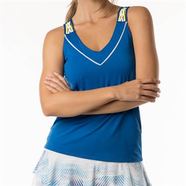 Lucky in Love Axis Point Entwine Racerback Tank - Electric Blue