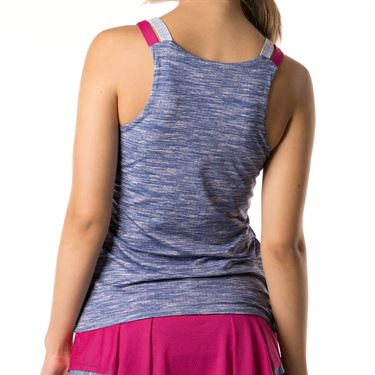Lucky in Love Shape It Up Active Fit Mixed Media Tank - Blueberry