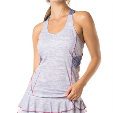 Lucky in Love Shape It Up Active Fit Twist Back Tank - Blueberry