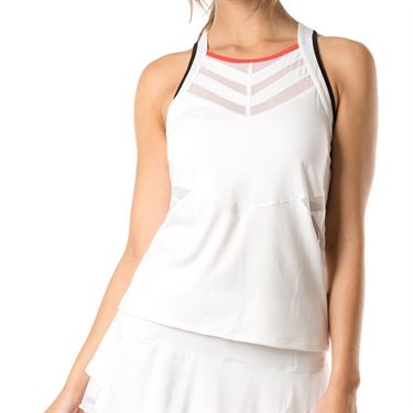 Lucky in Love Bloomy Dimensions Score Tank - White