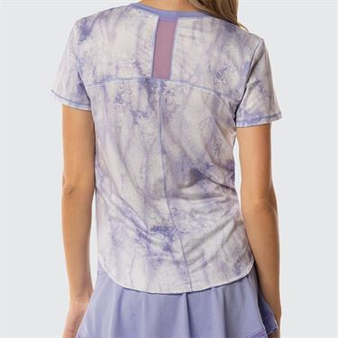 Lucky In Love Lilac It A Lot Chill Fit Lucid Shirttail V Neck Short Sleeve Top -